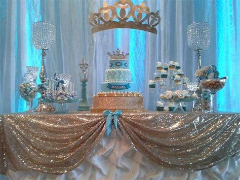 prince baby shower decorations prince baby shower party ideas gold dessert table gold dessert and baby shower parties