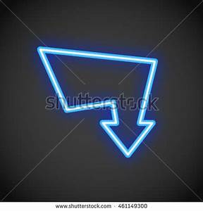 Neon Arrow Sign Stock Royalty Free