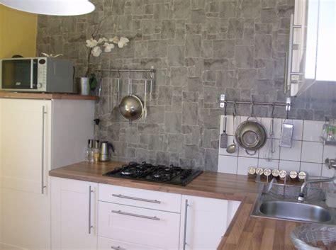 tapisserie de cuisine moderne papier peint imitation mur en 224 le havre prix travaux m2 appartement decolleuse a papier
