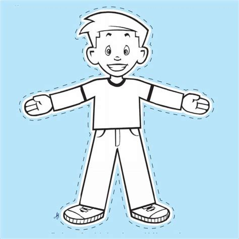 flat stanley template blank  coloring pages
