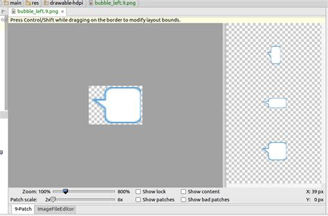 creating  patch image  android studio mobikul