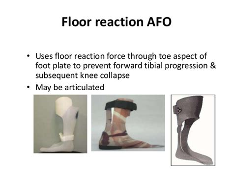 Floor Reaction Afo Cascade by Cerebral Palsy Treatment