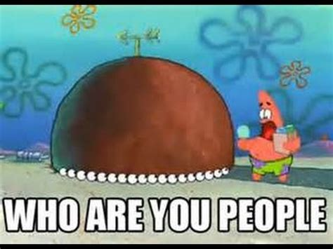 Who Are You People Meme - spongebob squarepants patrick star who are you people youtube
