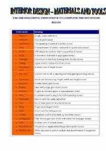 english teaching worksheets at home With interior decorator vocabulary