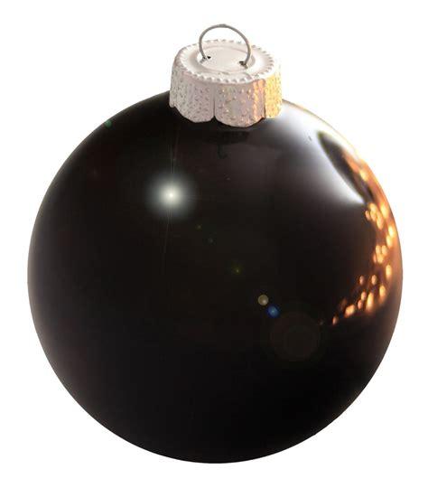 black christmas ornaments happy holidays