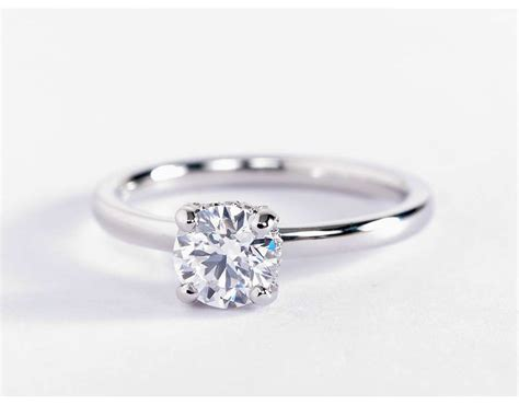 Blue Nile Studio French Pavé Diamond Crown Solitaire