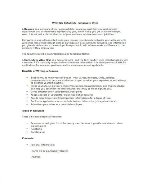 Writing Resume Your by 7 Resume Writing Exles Sles Exles