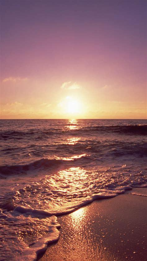 Free Download Ocean Beach Sunset Hd Iphone 5 Wallpapers