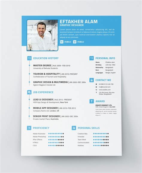 modern resume template berathen