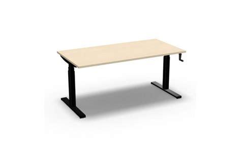bureau reglable en hauteur bureau easy 39 up réglable en hauteur manuel par manivelle 160 cm