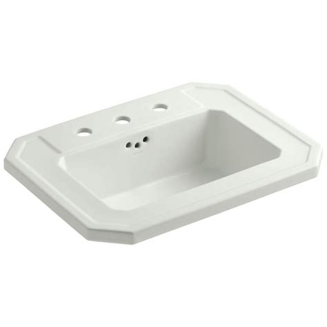 drop in bathroom sinks rectangular shop kohler kathryn dune drop in rectangular bathroom sink