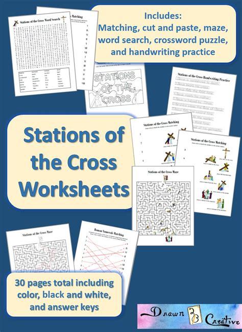 stations   cross worksheets drawnbcreative