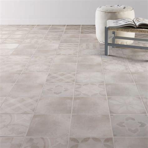 carrelage sol et mur gris effet ciment bistro l 20 x l 20