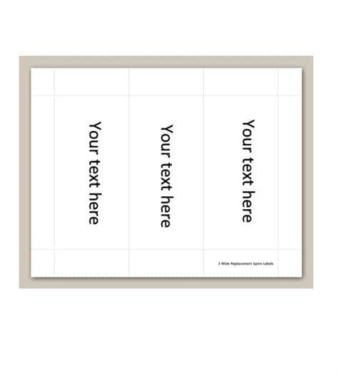 binder spine label templates  word format template