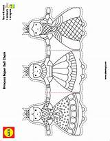 Paper Chain Chains Princess Doll Pages Alex Coloring Toys Dolls Craft Templates Crafts Template Printable Uploaded Own Christmas Princesses Colouring sketch template