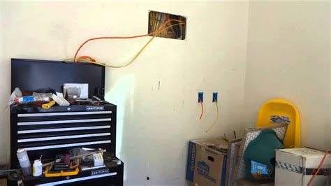 wiring    garage  shop   wall