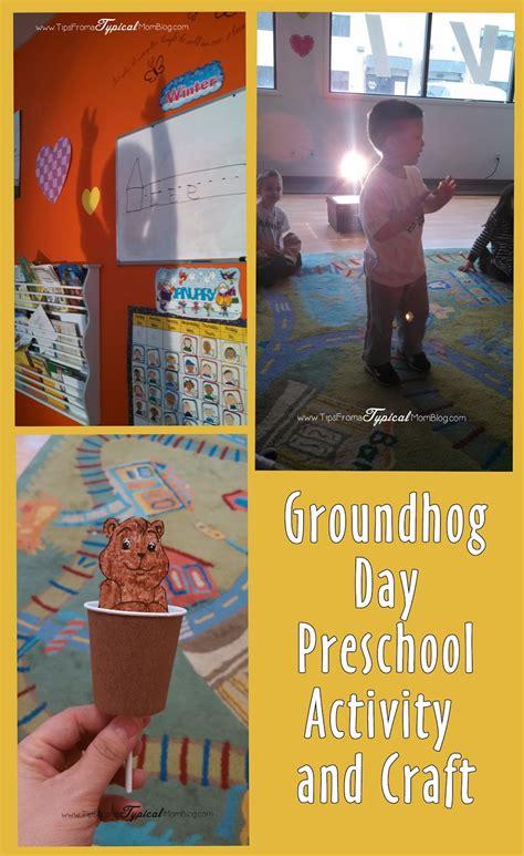 groundhog day preschool ideas craft activity song