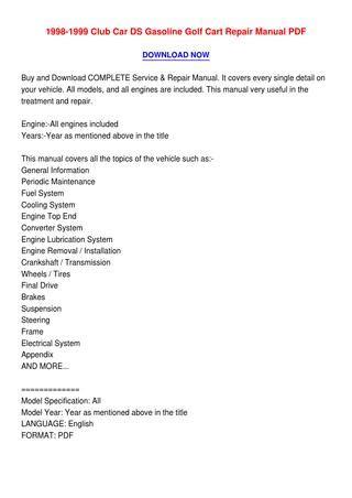 what is the best auto repair manual 1999 volvo s80 user handbook 1998 1999 club car ds gasoline golf cart repair manual pdf by cohen issuu