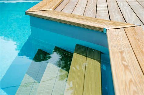 marches d escalier de piscine bois 183 bluewood