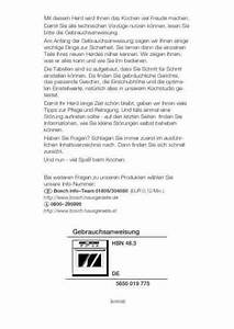 Bosch Hbn 4873 Oven Download Manual For Free Now