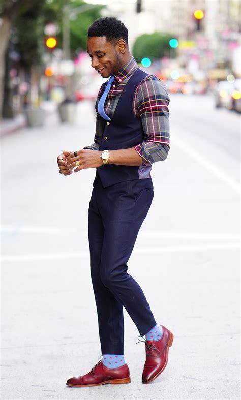 wear  waistcoat plaid shirt norris danta ford