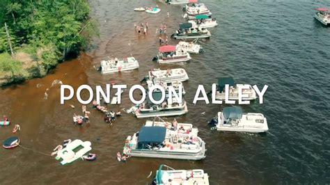 wixom lake pontoon alley   july  dji spark youtube