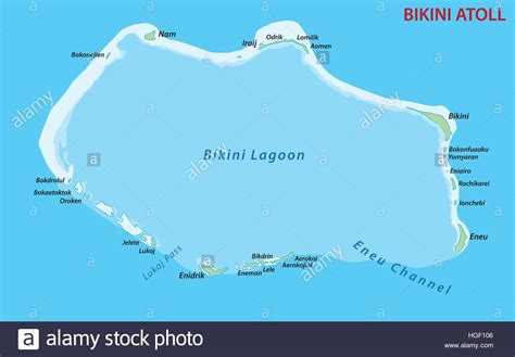 Bikini Atoll map Stock Vector Art & Illustration, Vector ...