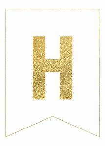 gold free printable banner letters paper trail design With banner letters