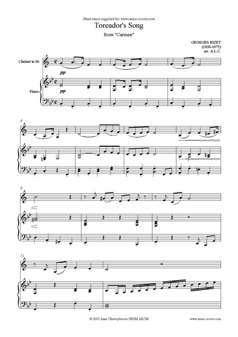 Pop Songs Clarinet Sheet Music