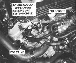egr valve honda odyssey 2000 accord how to locate the engine coolant temperature sensor