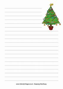 5 best images of free printable christmas border lined With christmas paper to write letters on