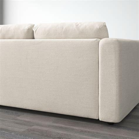 vimle sofa  chaise gunnared beige ikea