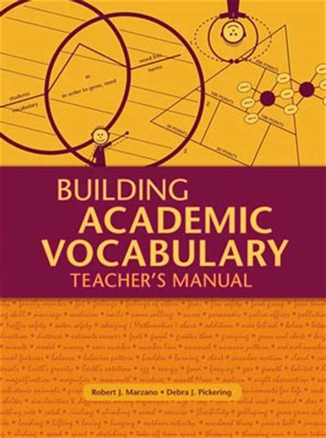 building academic vocabulary teachers manual