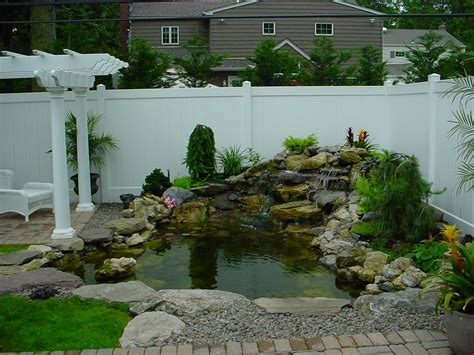 backyard pond backyard ponds waterfall aquascapes
