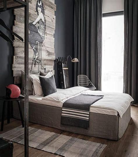 appartement moderne masculin chambre  coucher design