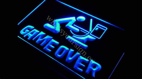 game  led neon light sign display youtube