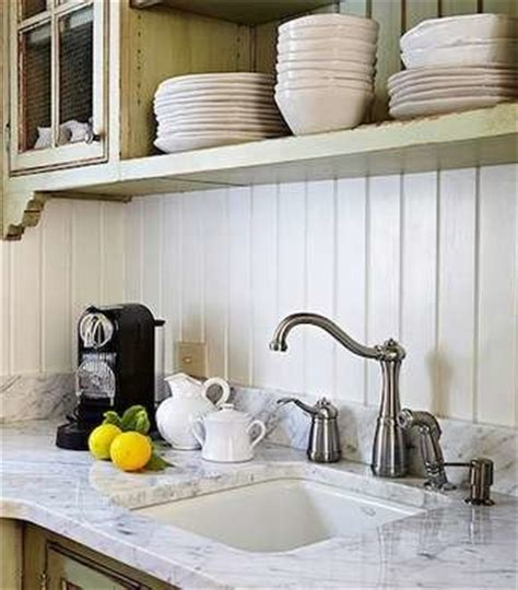 Kitchen Paneling Backsplash white wood paneling backsplash ideas for a unique