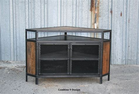 vintage media stand buy a custom vintage industrial tv stand corner unit 3246