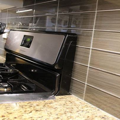 stacked backsplash kitchen stacked norwalk glass tile backsplash 3x12 these 5686
