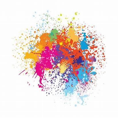 Splash Paint Colorful Background Vector Splatter Illustration