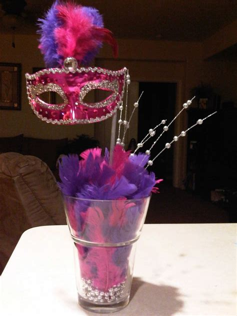 mask table decorations sweet 16 masquerade ideas mask centerpiece sweet