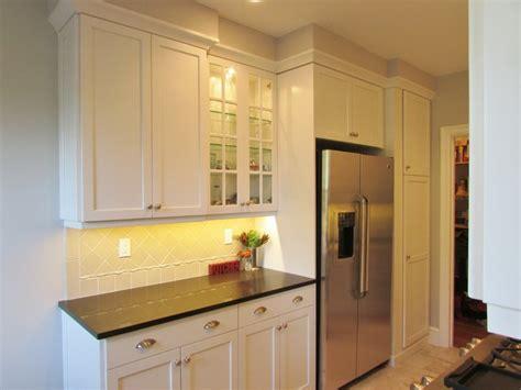 galley style apartment kitchen transitional kitchen