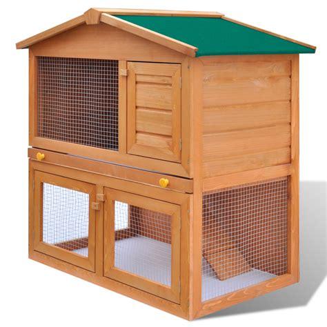 la boutique en ligne cage clapier ext 233 rieur en bois pour lapins 3 portes vidaxl fr