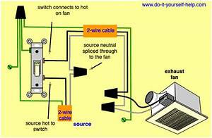 Wiring A Bathroom Exhaust Fan Diagram