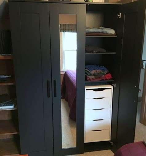 Wardrobe With Drawers by Upgrading Brimnes Wardrobe With Drawer Units Ikea Hackers
