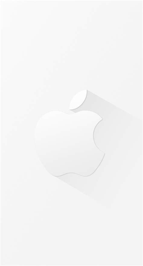keren logo apple putih wallpapersc iphonesplus