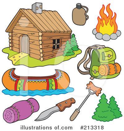Cabin Camping Clip Art Free