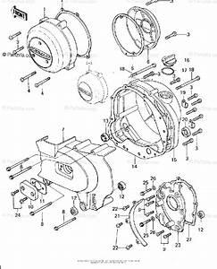 Kawasaki Motorcycle 1978 Oem Parts Diagram For Engine
