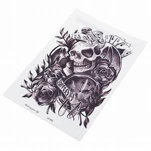 Hot Selling All black Design Latest Fashion Skull Clock ...