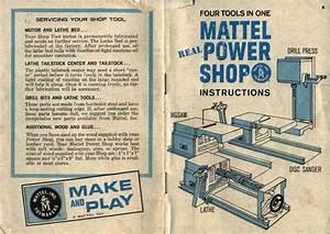 Mattel Power Shop Instruction Manual